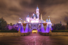 Sleeping Beauty Castle (cstout21) Tags: california ca old travel chris vacation usa brick castle night clouds us big colorful pretty gloomy unitedstates disneyland peaceful landmark disney historic orangecounty walt hdr highdynamicrange sleepingbeauty stout waltdisney sleepingbeautycastle disneylandresort ngoc canon60d stoutandstout northamera
