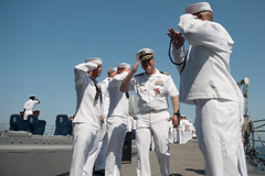 USS Mobile Bay (CG 53)_130308-N-LV331-515 (U.S. Naval Forces Central Command/U.S. Fifth Fleet) Tags: navy ceremony mc captain capt changeofcommand ussmobilebay cg53 commandingofficer johncstenniscarrierstrikegroup us5thfleetareaofresponsibility armandogonzales npasewest npase