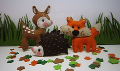 Bichos da floresta... (sweetfelt \ ideias em feltro) Tags: handmade feitomo felt feltro handcraft feutrine faitmain woodlandanimals animaisdafloresta bichinhosdafloresta animauxdelaforet