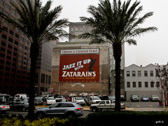 Jazz It Up (gabi-h) Tags: street wall grey mural louisiana neworleans january palmtrees gabih zatarains