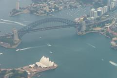 Sydney from the Air - 3 (coopertje) Tags: bridge architecture opera sydney australia newsouthwales operahouse qantas harbourbridge
