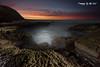 Light Painting @ Susan Gilmore (Kiall Frost) Tags: ocean longexposure sun lightpainting color colour beach water sunrise nikon rocks australia torch le nsw panit susangilmore kiallfrost d800e
