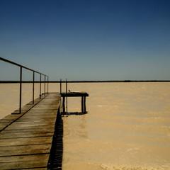 pajingo bola (Fat Burns ☮) Tags: lake fish water landscape fishing jetty landing outback waterhole freshwaterlake outbackaustralia lakedunn pajingobola