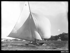 Yacht under sail on Sydney Harbour