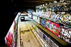Leake Street, Waterloo (frederic jon) Tags: nightphotography streetart london westminster graffiti bigben wallart riverthames embankment westminsterbridge houseofparliament waterloobridge leakestreet stationapproachroad northlambeth