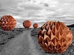 Magic Ball (Kade Chan) (Danielle Verbeeten) Tags: art paper origami chan papier paperfolding papiroflexia corrugation folding vouwen magicball vouwkunst papierkunst papiervouwen danielleverbeeten