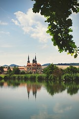 Sacred place (Pavel Cervenka Photographer) Tags: church reflect reflex water sky clouds branch pond pure architecture landscape nature velehrad basilica awesome nice beautiful wow hdr high dynamic range czech republic pavel cervenka canon 6d ef35f2