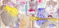 war nicht jede Station eine Endstation, sie kamen ihm vor wie Niederlagen (raumoberbayern) Tags: sketchbook skizzenbuch tram munich mnchen bus strasenbahn herbst winter fall pencil bleistift paper papier robbbilder stadt city landschaft landscape