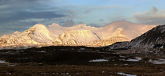 the glorious end of a short winter day (lunaryuna) Tags: iceland southwesticeland landscape panorama hvalfjordurfjord fjord mountainrange snowcoveredmountains winter season seasonalwonders thelonglight afternoonsun wintersunset fireandice textures nature beauty lunaryuna