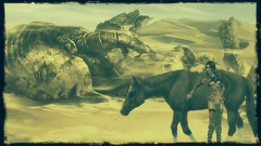 Draka (alexandra wardark) Tags: colordefaultcolorsinnocensevogueorton secondlife sl desert horse warrior sand