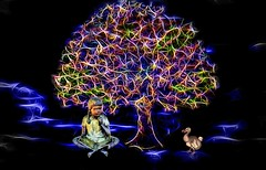 The Tree of Dreams (Rusty Russ) Tags: tree girl reading book dodo bird dream color sleep awake black blue imagination photoshop flickr google bing daum yahoo image stumbleupon facebook getty national geographic magazine creative creativity montage composite manipulation hue saturation flickrhivemind pinterest reddit flickriver pixelpeeper blog openuniversity flic twitter alpilo commons wiki wikimedia worldskills oceannetworks ilri comflight newsroom fiveprime photoscape winners all people young photographers paysage artistic photo pin stockpainterly paint brush painttexture tumblr style outside android colourful