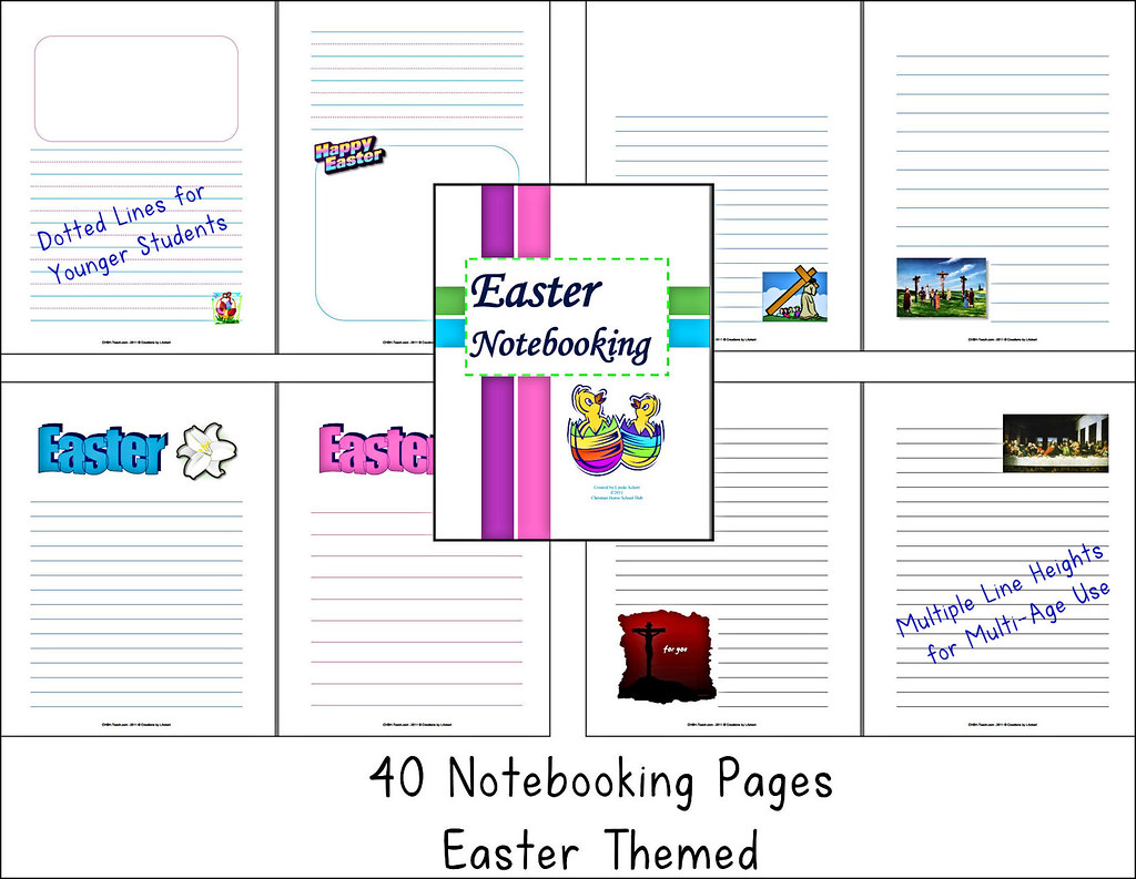 Easter Notebooking Pages CHSH Teach Tags Chsh Chshteach Religiousholidays Reportpages