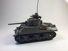 ODG M4A3 Sherman (mjbricks(flose master)) Tags: lego tank old dark grey odg american sherman m4 wwi wwii