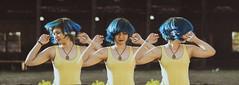 H A I R (andr3ms) Tags: female portrait woman retrato feminino mulher teenage teen blue hair cabelo azul brasil brazil nikonflickraward nikon j1 50mm sequence sequncia