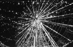 Ferris wheel (norihitokataoka) Tags: leica m7 summilux 35mm fuji presto 400 slow shutter blackwhite
