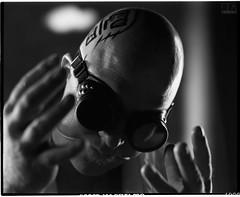 CyberMonk (Andy Keys) Tags: cyberpunk film analog dystopia mamiya rb67 mediumformat portrait cinematic cybermonk delta 100 ilford fromthinair bw blackandwhite