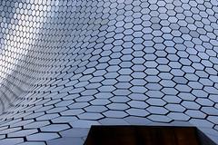 blue skin (maotaola) Tags: blueskin hexagonalskin cdmx fachadaenazul museosoumaya metallicskin patterns texture