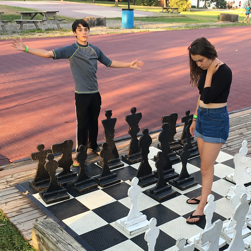 wilderness tours brother and sister play giant chess