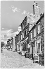 Haworth 3 (chromaphoto.co.uk) Tags: haworth westyorkshire yorkshire bronte wuthering heights mono monochrome bw mainstreet