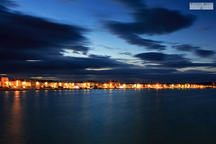 Weymouth Night (RichardBeech) Tags: weymouth night lights sea seaside longexposure slowshutterspeed sky clouds landscape bay weymouthbay dorset uk england britain esplanade town seafront illuminations tranquil peaceful canon canon5dmarkiii
