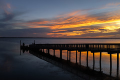 Another Duck Sunset (psinderbrand) Tags: duck boardwalk outerbanks