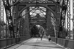 Young & old (michael_hamburg69) Tags: hamburg germany deutschland river fluss elbe elbbrcke bridge alteharburgerelbbrcke 1899 stahlbogenbrcke stahl steel sderelbe steelarchbridge