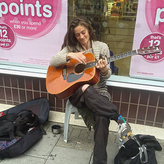 Worthing busker 2016 - Jenny Cash (pg tips2) Tags: candid street worthing girl woman newage busker guitarist jonnycashsongs singer talented magictouch bristol