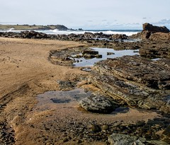 String of rockpools with coarse sand (jack eastlake) Tags: bunga beach bermagui murrah far south coast nsw bega valley surf surfers rock pools rockpools
