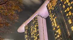 Marina Bay Sands Hotel, Singapore (monique_sg) Tags: hdr nightphotography marinabaysands hotel architecture building cantilever panasonic20mmf17 olympus epm2 singapore engineering sandsskypark