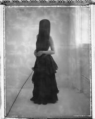 * (derlevi) Tags: portrait woman hair face hidden polaroid p55 instant film
