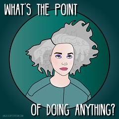 St. Vincent - Digital Witness (The Dame of all Trades) Tags: stvincent annieclark digitalwitness graphicdesign adobeillustrator illustrator illustration music artist fanart whatsthepointofdoinganything