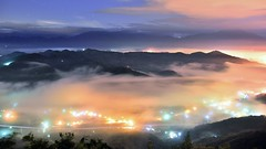 九份二山 ~月光雲海琉璃~   Colored glass light Clouds (Shang-fu Dai) Tags: 台灣 taiwan 南投 clouds nikon d800e sky 雲海 琉璃光 coloredglasslight liulilazurite landscape formosa nightscene nantou