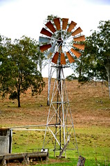 10 foot IBC Geared Simplex windmill; Colinton, Queensland (sarracenia.flava) Tags: colinton queensland australia ibc intercolonial boring company windmill daguilar highway