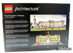 Back view of the original box image of the 21029 Buckingham Palace (WhiteFang (Eurobricks)) Tags: lego architecture set landmark country buckingham palace victoria elizabeth royal royalty family crown jewel imperial statue tourist united kingdom uk micro bus taxi