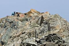 Scrambling on Wilder Pfaff, Stubiatal, Austria (Miche & Jon Rousell) Tags: stubai stubital alps austria austrianalps tyrol mairspitze wilderfreiger wilderpfaff zuckerhutl mullerhutte glacier rocks scramble snow arete ridge