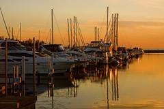 Michigan City Harbor at Sunset 9-12-2016 8606 (www.cemillerphotography.com) Tags: lakefront lakemichigan sundown dusk nightfall washingtonpark recreation megawatt energy emissions indiana factory smokestack smoke