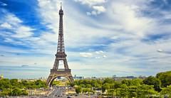 Eiffel Tower (.::Prad Patel::.) Tags: eiffel tower paris france blue sky landscape monument cit larchitecture patrimoine museum architecture clouds