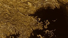 Methane-flooded canyons on Titan (europeanspaceagency) Tags: methane esa spacescience titan canyons cassini saturn rivers vidflumina cassinihuygens nasa