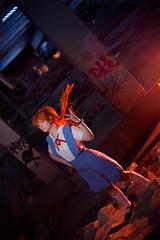 Asuka Soryu Langley (Neon Genesis Evangelion) (Calssara Photography) Tags: anime manga cosplay neongenesisevangelion evangelion nge asuka asukalangley asukasoryulangley schooluniform redhair hairclips lostplaces ruine cosplayphotography