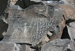 Petroglyphs / Little Lake Site (Ron Wolf) Tags: archaeology nativeamerican anthromorph anthropomorph digitated dotdesign dots panel parallellines petroglyph rockart zoomorph california