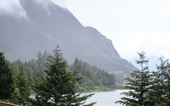 IMG_3502 (kz1000ps) Tags: tour2016 clouds oregon washingtonstate columbiariver border columbiarivergorgenationalscenicarea fog mist grey pinetrees cliffs canyon cascaderange