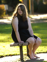 Untitled (Rabbit_128) Tags: person portrait bench sitting sun glowing light nature dof