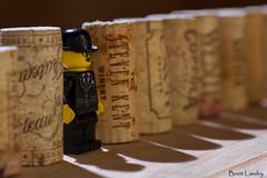 Breaking the pattern (blandry186) Tags: lighting macro kitchen yellow canon fun lego wine patterns cork creative 60mm tamron corks concepts