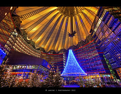 Sony Center Berlin :: HDR ( Janine ) Tags: nightphotography berlin germany deutschland europa europe nightshot sonycenter hdr janine afterdark 2012 photomatix tonemapped tonemapping tonemap mygearandme mygearandmepremium mygearandmebronze mygearandmesilver janinephotography