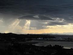 UFO (GaelicKiwi) Tags: storm clouds nelson ufo nz lightning thunder sunsrays