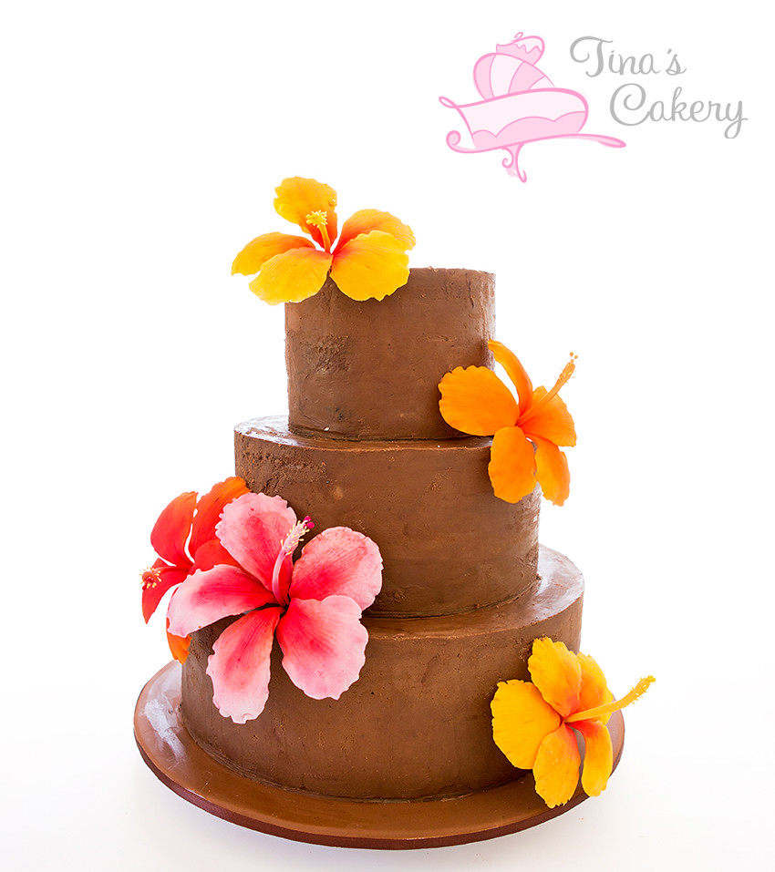 The worlds best photos of cake and hibiscus flickr hive mind ganache hibiscus cake tinas cakes tags flowers wedding flower cake milk bright chocolate izmirmasajfo