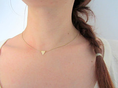 Triangle gold choker necklace neck (Lunahoo) Tags: choker handmadejewelry goldnecklace tinynecklace geometricjewelry trianglenecklace lunahoo daintyjewelry trianglecollection