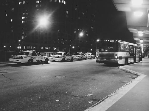 nightphotography toronto ttc etobicoke emergency eatonville blogto torontotransit torontopolice torontoist kiplingsubwaystation ttcbus dundasstwest january2013 auklandrd appleiphone4s 112cwestmall