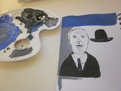 Rene Magritte (Big*Al*Davies) Tags: paper sketch paint bigaldavies magritte gritte