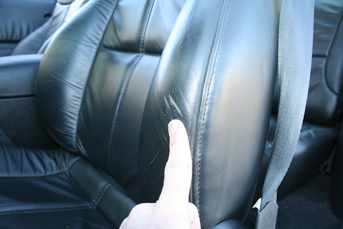 Drivers Side Seat Bolster Wear - Only Flaw on the Interior